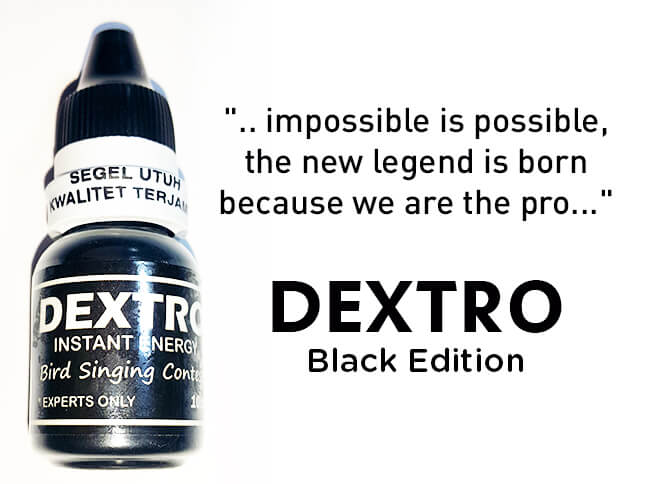 Smart DEXTRO Black Edition, Doping Vitamin Burung Lomba